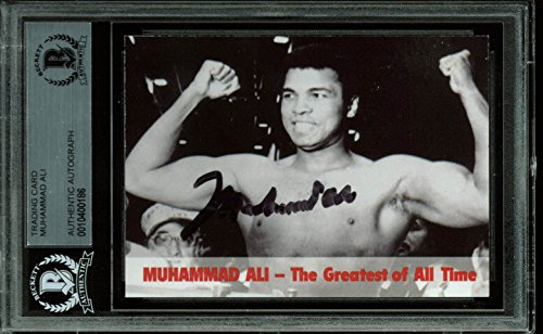 Muhammad Ali Authentic Signed 1994 Collector's Edge Auto Card BAS Slabbed ()