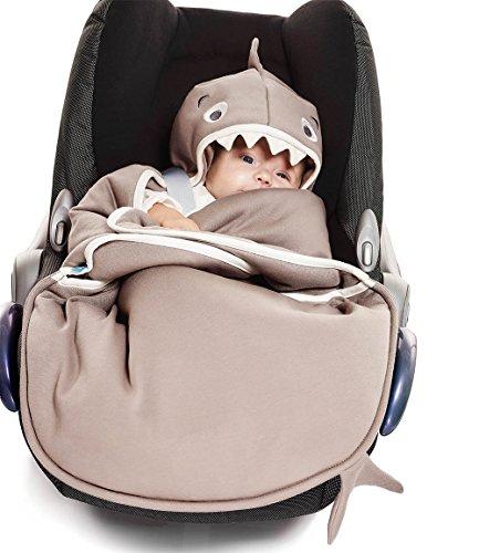 Wallaboo Babydeken dier, kinderwagen of autostoel en reizen, supersoft 100% puur katoen, pasgeboren tot 10 maanden, 90 x…