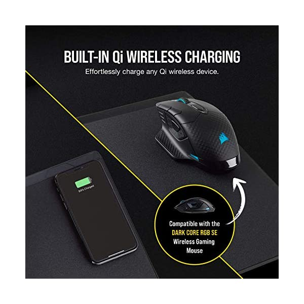 Corsair MM1000 Qi Wireless Charging Mouse Pad - Adapters Included for Most Smartphones including IPhone and Android…