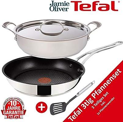 Tefal H60135 Jamie Oliver - Juego de sartenes (4 piezas, aptas ...