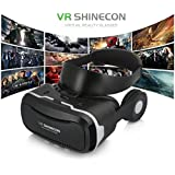 3D VR Headset, Virtual Reality Goggles Movies Video Games Viewer for IOS, Android, Microsoft & PC phones within 4.0 - 6.0 Inch iphone 5 6 7 8 + Remote
