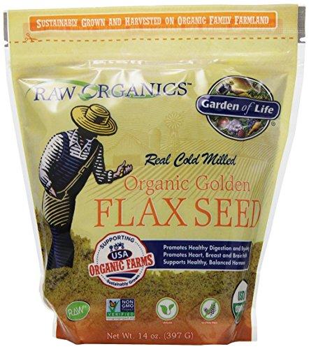 Garden of Life RAW Organics - Bio Graines de lin au sol, 14 oz