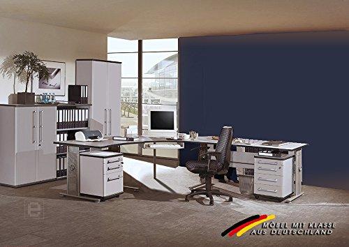 Büromöbel Set »PROJECT« in Lichtgrau 8 teilig