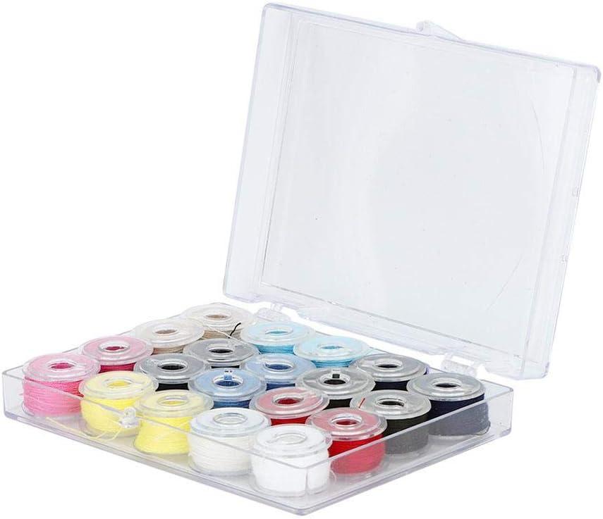 TOPINCN Kit de Fil de Machine /à Broder Fils de Couture color/és Accessoires de Bobine de Machine /à Coudre en Plastique pour Travail /à Domicile
