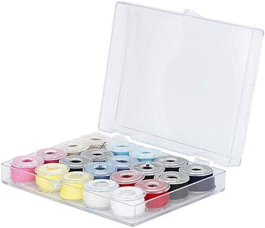 TOPINCN Kit Hilo Máquina Bordar Hilos Coser Coloridos Accesorios Carrete Máquina Coser Plástico para Trabajos Manuales Casa: Amazon.es: Hogar