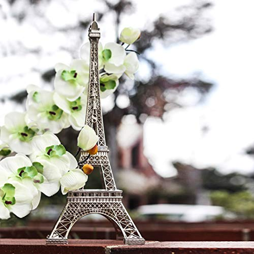 Ethrift 15 Inch (38cm) Silver Metal Eiffel Tower Statue Figurine Replica -