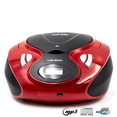 Lauson Radio y Reproductor de CD Portátil con USB | Radio Am/FM | USB y Mp3 | CD Player con Salida para Auriculares 3.5mm | CP636 (Azul): Amazon.es: ...