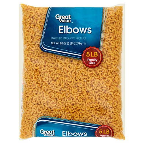 Great Value Elbow Macaroni, 5 lb Great Addition to Any Wholesome Meal