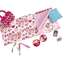 "Sleepover Set with Sleeping Bag for 18-Inch Dolls - Our Generation ""Polka Dot Sleep Party"""