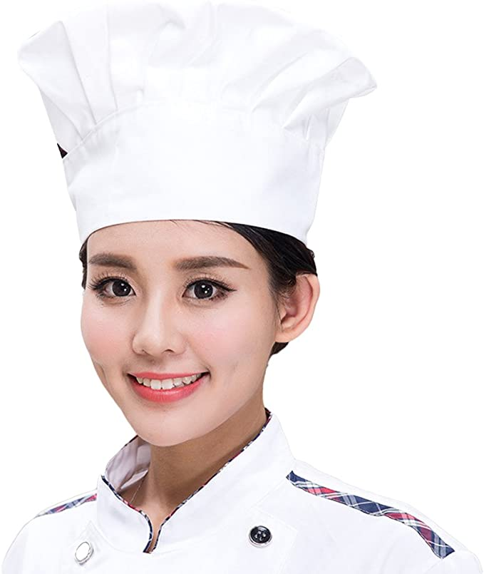 Style champignon Chapeau de cuisinier pour cuisine et restaurant Chapeau de chef de cuisinier avec /élastique ajustable BESTONZON