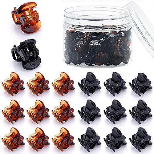 48 Pcs Mini Hair Clips for Girls and Women(Black and ()
