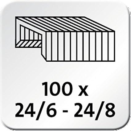 Gray Novus B4fc Compact Flat Clinch Stapler 020-1467 25 Yr Staple|Pin|Tack 50 Sheet Capacity German Engineered Steel Drive Warranty