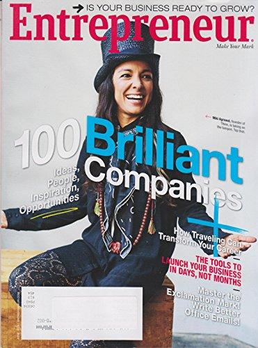 Entrepreneur June 2016 Miki Agrawal 100 Brilliant Companies, Ideas, People, Inspiration, ()