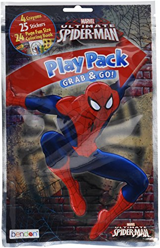 Bendon Spider-Man Coloring Activity Play Pack, Assorted Styles (43144) ()
