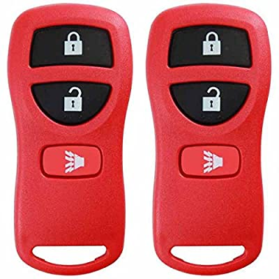 KeylessOption Keyless Entry Remote Control Car Key Fob Replacement for KBRASTU15, CWTWB1U733-Red (Pack of 2): Automotive