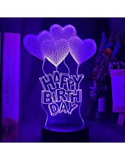 3D Illusie Nachtlampje Hart Luchtballon Kleur Veranderende Nachtlampje voor Meisjes Babykamer Decor Unieke Verjaardagscadeau Slaapkamer Tafellamp -Heart_Air_Ballon