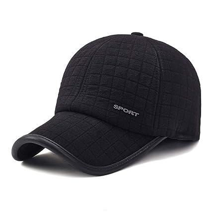 50559b5bed36e8 GADIEMKENSD Winter Earflap Cap Men Sports Baseball Cap Cotton Cap Running Cap  Hats Adjustable Men Mens