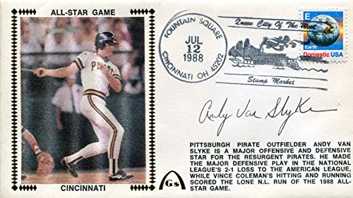 Andy Van Slyke Autographed First Day Cover
