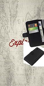 JackGot ( Explora Antiguo Mapa Escolar ) Sony Xperia Z2 D6502 la tarjeta de Crédito Slots PU Funda de cuero Monedero caso cubierta de piel