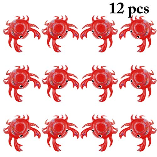 - JUSTDOLIFE 12PCS Drink Coaster Inflatable Cute Crab Drink Holder Pool Float