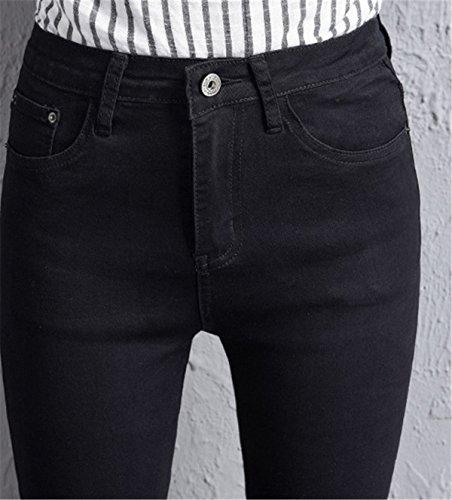 Larghi Donna Autunno Flare Cut Primavera Pantaloni Ragazzi Frange Nero Con In Pants Dabag Jeans Denim Boot Pantalone R5vqTwT