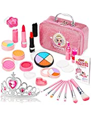 Jojoin Kids Makeup Set for Girls - 22PCS Real Washable Cosmetics Kit met Unieke Princess Crown, Ideaal Make-up Cadeau voor Princess Makeup Party, Verjaardag, Kerst