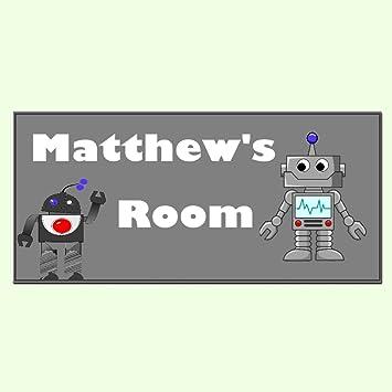 Amazon.com: Android Robot niños, placa de puerta ...