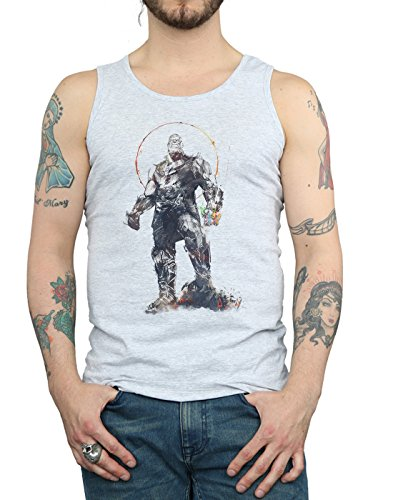 Sketch Top Gris War Thanos Absolute Cult Homme Sport Avengers Tank Infinity nHwxYCw