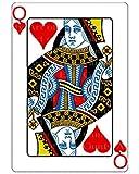 1/2 Sheet - Queen of Hearts Poker Casino Birthday - Edible Cake/Cupcake Party Topper!!!