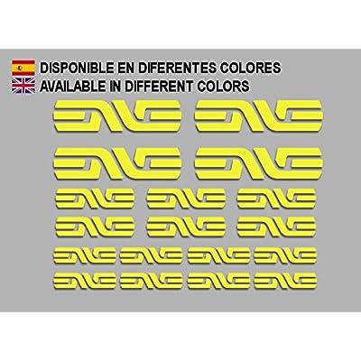Ecoshirt 6B-BPAY-DFEJ Stickers Enve F184 Vinyl Adesivi Decal Aufkleber КТå MTB Stickers Bike, Yellow: Automotive