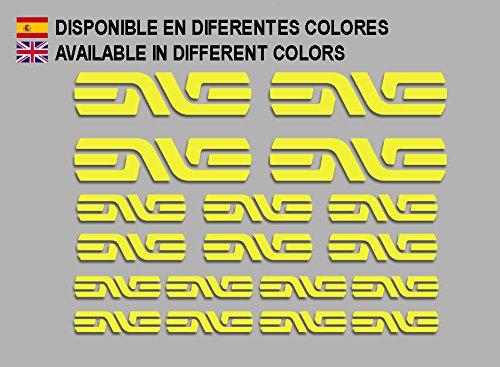 Ecoshirt 6B-BPAY-DFEJ Stickers Enve F184 Vinyl Adesivi Decal Aufkleber КТ/å MTB Stickers Bike Yellow