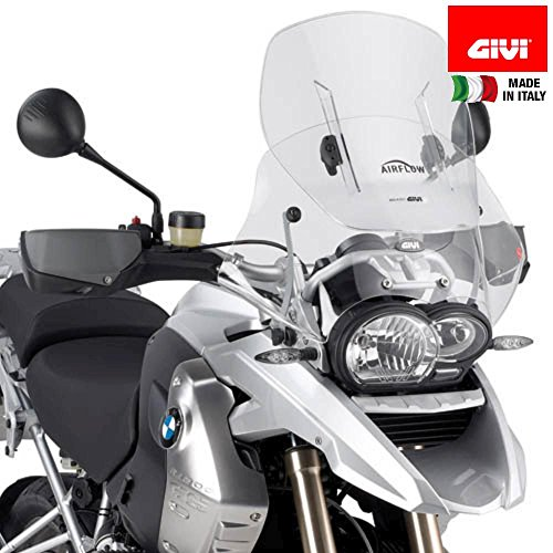 Air Flow Windshield Windscreen - Givi AF330 Airflow Adjustable Wind Screen for BMW R1200GS (2004-2012)