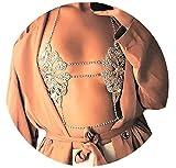JeVenis Luxury Harness Bikini Rhinestone Body Chains Jewelry Fashion Belly Chain Chest chain Waist Chain Necklace (Style - 3)