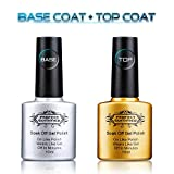 Image of Perfect Summer Clear Gel Base Coat and Top Coat Perfect Match Gel Nail Polish- Pack of 2, 10ml Each
