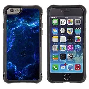 Suave TPU GEL Carcasa Funda Silicona Blando Estuche Caso de protección (para) Apple Iphone 6 / CECELL Phone case / / Blue Glas Cloud Galaxy Stars Planets Universe /