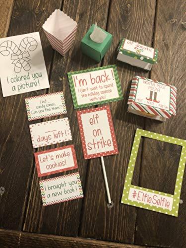 Elf Props - Elf Pizza Box - Elf Donuts - Elf Tissues - Elf Kit - Elf Countdown - Elf Coloring - Elf Photo - Elf Back - Elf Return Letter