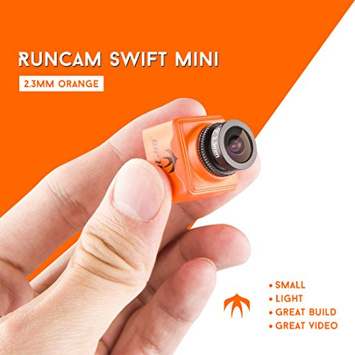 RunCam Swift Mini FPV Camera 2.3mm Lens FOV 150 600TVL OSD DC 5-36V CCD NTSC IR Blocked with Mount for Racing Drone Quadcopter (Orange)