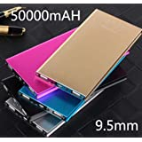 Black--External 50000mAh Power Bank Pack Portable USB Battery Charger Mobile Phone SLIM