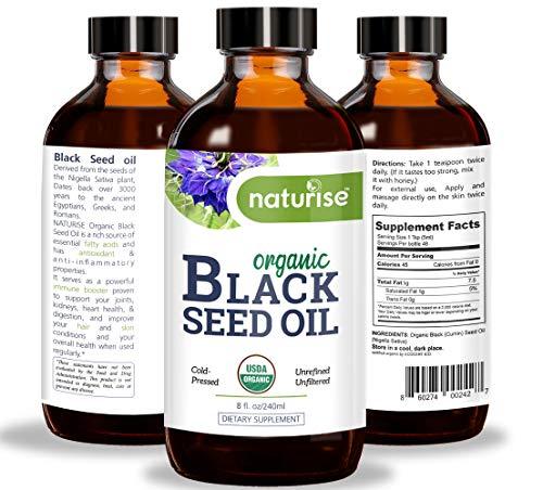 Naturise Black Seed Oil Organic Cold Pressed, Black Cumin