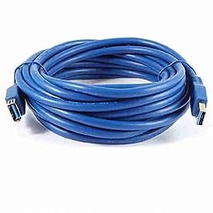 Move & Moving (TM) 5m azul USB 3.0tipo A macho a hembra conector adaptador de cable de 16pies