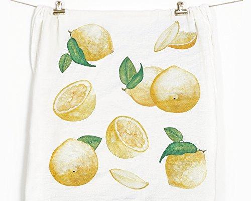 Honey Brush Design Kitchen Dish Towel 100% Cotton Flour Sack Tea Towel (Lemons)
