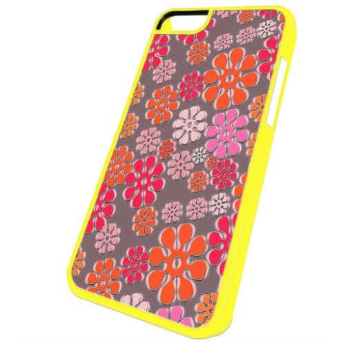 Flower Power Pattern - iPhone 5c Glossy Yellow Case