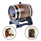 3L Oak Barrel Wooden Barrel for Storage or Aging Wine & Spirits Wine Barrels Wine Holder (Brown)