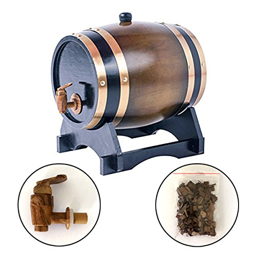 3L Oak Barrel Wooden Barrel for Storage or Aging Wine & Spirits Wine Barrels Wine Holder (Brown) by AIMEE-JL (Image #7)