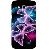 Casotec Butterflies Neon Light Design Hard Back Case Cover for Samsung Galaxy Grand 2 G7102 / G7105