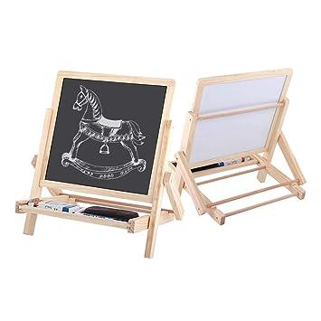 Amazon.com: Tabla de dibujo de madera de doble cara para ...