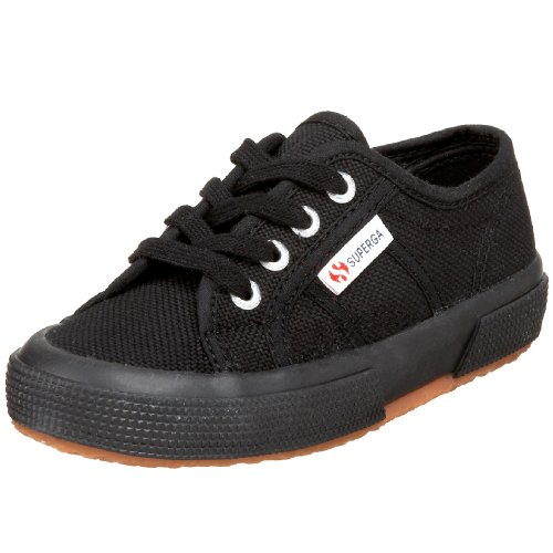 Superga 2750 JCOT Classic (Toddler/Little Kid), Black, 32 (US 1 M (Superga Kids Classic Shoe)