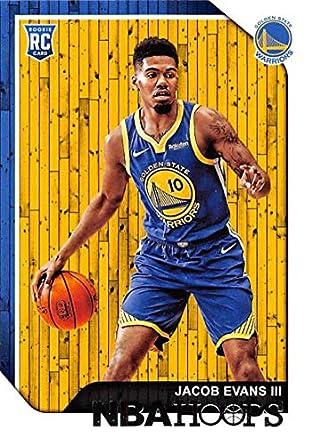 2018-19 NBA Hoops Basketball  279 Jacob Evans III Golden State Warriors RC  Rookie 7c1e9eb88