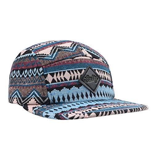 GP Accessories Fair Isle Pattern Multi Color Stripe Salty 5 Panel Hat Large Brown