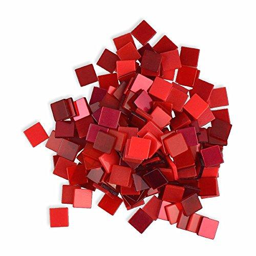 Mosaiksteine 10x10mm rot 190 Stück 45 g